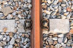 Schienenunterwerfungsdetail Lizenzfreie Stockfotos
