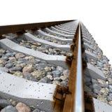 Schienenzeilen auf konkreten Lagerschwellen Lizenzfreies Stockfoto
