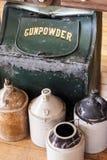 Schießpulver-Behälter Stockfoto