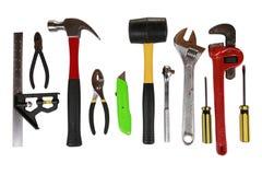 Schiera degli strumenti isolati Immagine Stock Libera da Diritti