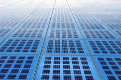 Schiera dei comitati solari Fotografie Stock