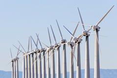 Schiera della turbina di vento Fotografia Stock