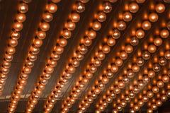 Schiera delle lampadine Fotografia Stock