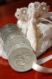 Schiera delle monete Immagine Stock