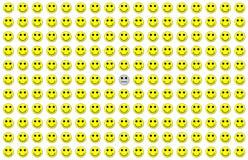 Schiera di depressione Fotografia Stock