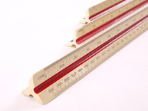 Schiera diagonale del righello della scala lungamente Immagini Stock