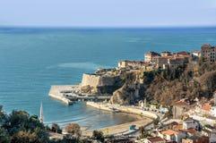 Schiereiland van de Ulcinj het Oude stad, Montenegro Stock Fotografie