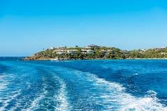Schiereiland van St Thomas eiland uit in Caraïbisch Se Royalty-vrije Stock Foto's