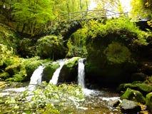 Schiessentumpel vattenfall Royaltyfri Bild