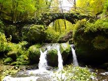 Schiessentumpel vattenfall Royaltyfria Bilder