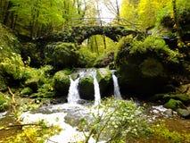 Schiessentumpel vattenfall Royaltyfri Fotografi