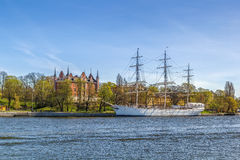 Schiff Af-ambulanten Händlers in Stockholm Stockfoto