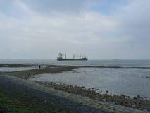 Schiff auf dem Meer Lizenzfreies Stockbild