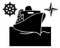 Schiff auf dem Wasser Vektor Abbildung