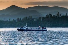 Schiff auf Enisei Lizenzfreies Stockbild