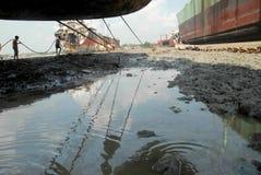 Schiff, das Bangladesch einläuft Lizenzfreies Stockbild