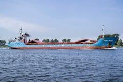 Schiff der gemischten Ladung WILSON WESER Inlands-Amsterdam lizenzfreies stockfoto