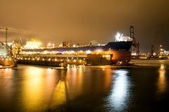 Schiff am Dock Lizenzfreies Stockbild