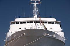 Schiff im Hafen von Kiel Stockfotos