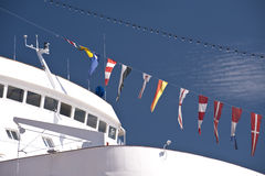 Schiff im Hafen von Kiel Stockfotografie