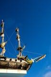 Schiff im Himmel Russland, Komi, Syktyvkar Stockfotografie