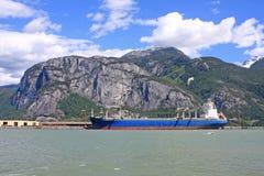 Schiff im Howe Sound Stockbild