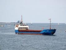 Schiff Màlaga-gemischter Ladung, das an Wismar in Deutschland teilnimmt stockfoto