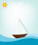 Schiff in Meer Lizenzfreies Stockfoto