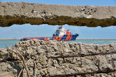 Schiff, Transport Stockbild