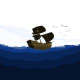 Schiff und Meerblick-Transport Stockbild