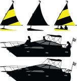 Schiff und Yacht Lizenzfreies Stockbild