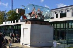 Schiff Yinka Shonibare Nelsons in einer Flasche Greenwich Lizenzfreie Stockfotografie