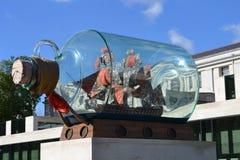 Schiff Yinka Shonibare Nelsons in einer Flasche London Stockbilder
