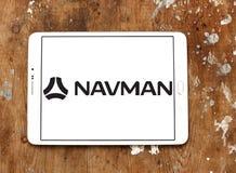 Schiffahrtsgesellschaftslogo Navman GPS stockbild