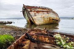 Schiffbrüche nahe Aros lizenzfreies stockbild