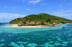 Schiffbrüchige Insel, Mamanucas, Fidschi lizenzfreies stockbild