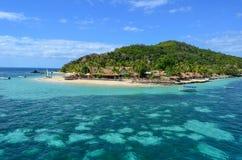 Schiffbrüchige Insel, Mamanucas, Fidschi stockfotos