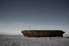 Schiffbruch bleibt vom Maud, Cambridge-Bucht Nunavut Lizenzfreies Stockfoto