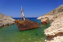 Schiffbruch der Olympia Stockfotografie