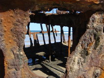Schiffbruch, Fraser Island Stockfotos