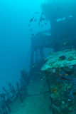 Schiffbruch im Ozean-Blau, Malediven lizenzfreies stockbild