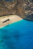 Schiffbruch-Strand, Navagio in Zakynthos, Griechenland Lizenzfreies Stockfoto