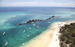 Schiffbruch Tangalooma-Insel Lizenzfreie Stockfotos
