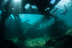 Schiffbruch und Sonnenlicht Stockfoto