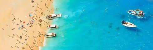 Schiffbruchbucht, Zakynthos-Insel, Griechenland Lizenzfreie Stockfotos