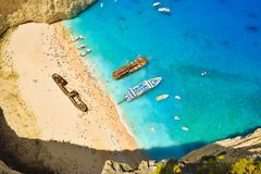 Schiffbruchbucht, Zakynthos-Insel, Griechenland Lizenzfreies Stockfoto