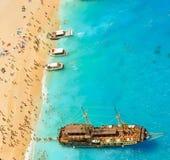 Schiffbruchbucht, Zakynthos-Insel, Griechenland Stockbild