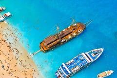 Schiffbruchbucht, Zakynthos-Insel, Griechenland Lizenzfreie Stockbilder