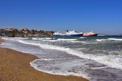 Schiffe in Artemis beherbergten, Attika, Griechenland Stockfotografie