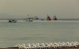 Schiffe auf dem Meer Stockbilder